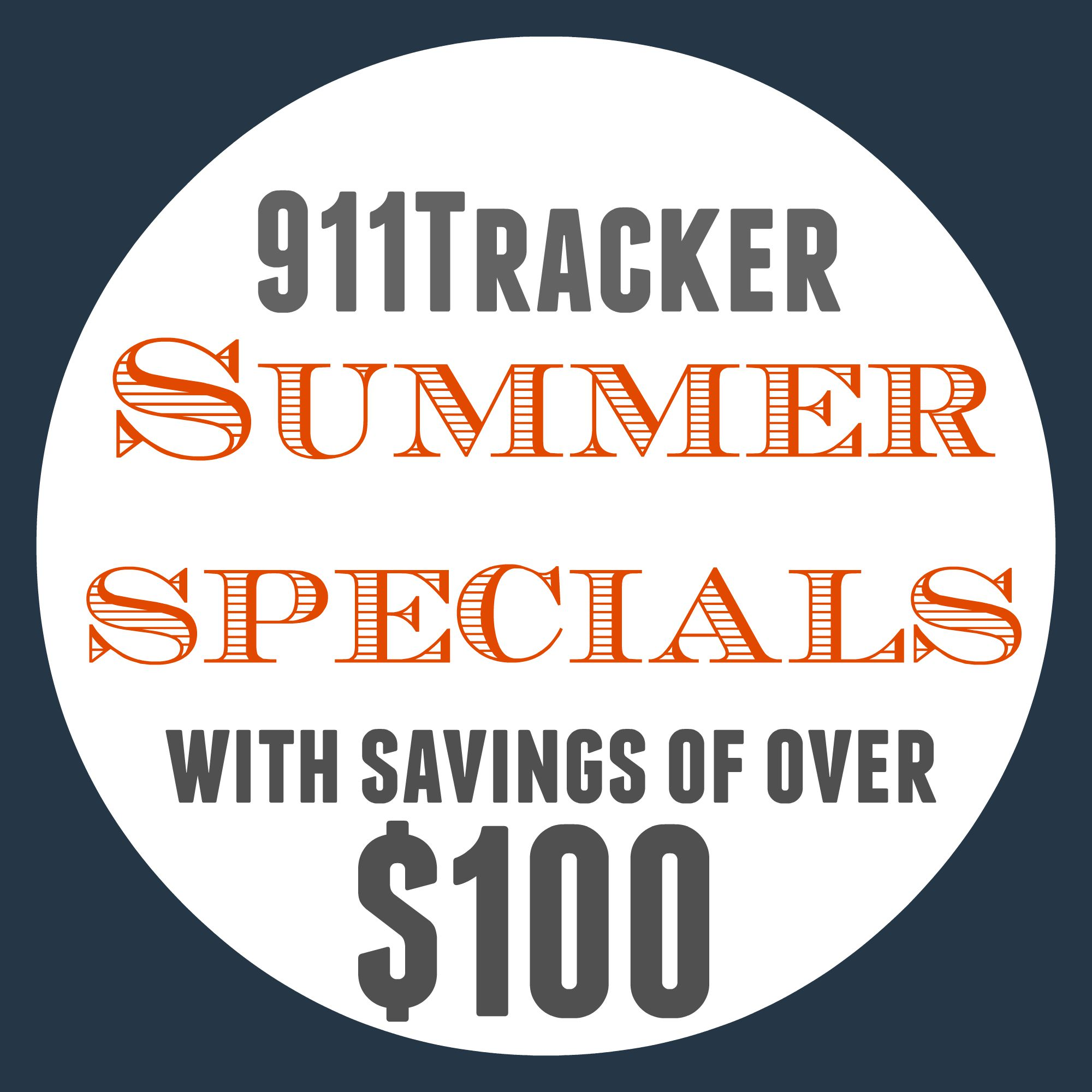 911Tracker Summer Specials Logo