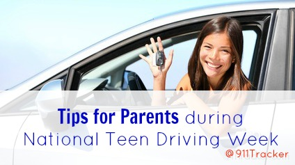 Tips for Parents of teen drivers. for National Teen Driving Week.